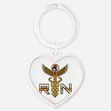Medical RN 2 Heart Keychain