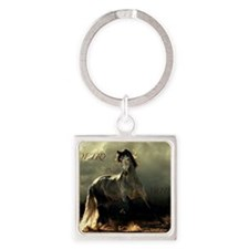 Poetry in Motion Square Keychain