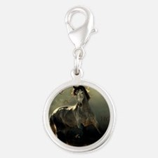 Poetry in Motion Silver Round Charm