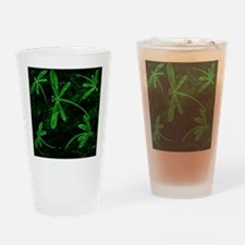 Dragonfly Flit Electric Green Drinking Glass