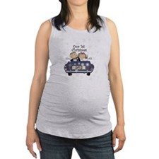 Just Married 1st Christmas 2013 Maternity Tank Top