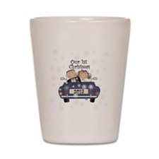 Just Married 1st Christmas 2013 Shot Glass