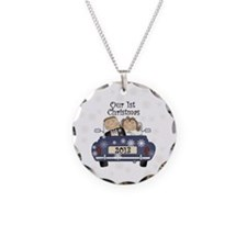 Just Married 1st Christmas 2 Necklace