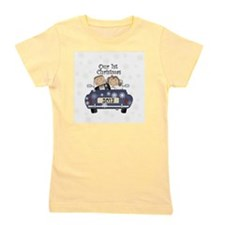 Just Married 1st Christmas 2013 Girl's Tee