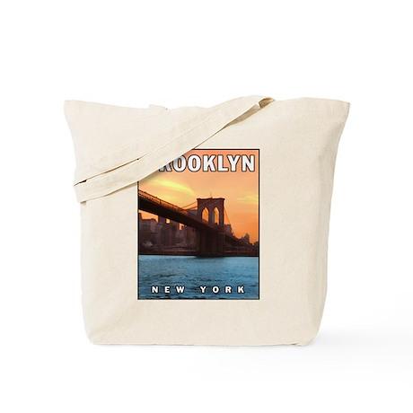 Brooklyn Bridge Sunset Tote Bag