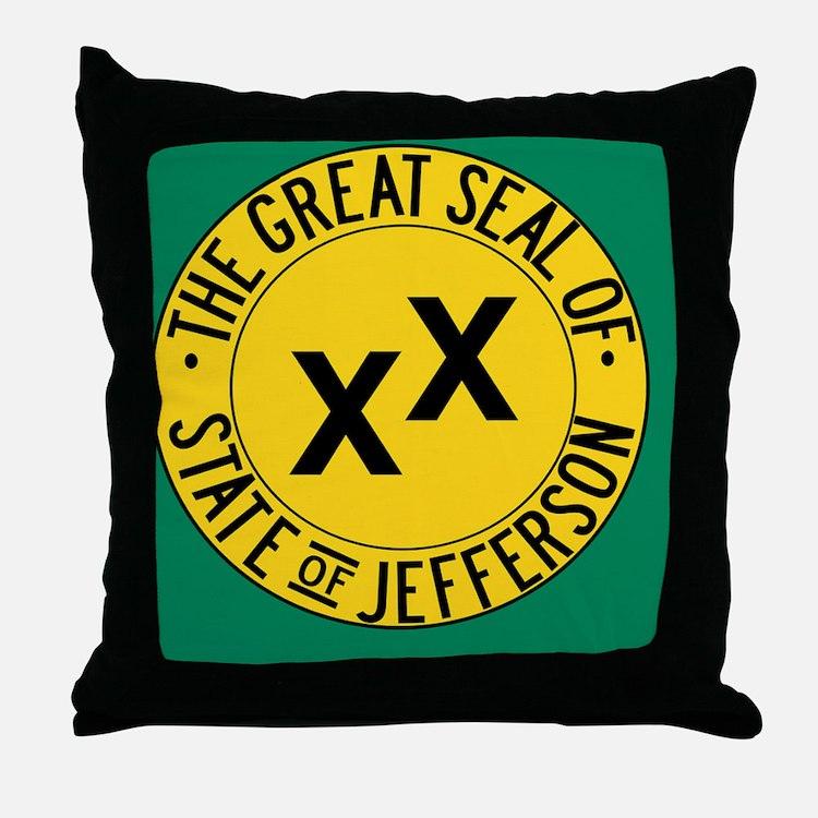 Jefferson Flag Throw Pillow
