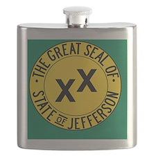 Jefferson Flag Flask