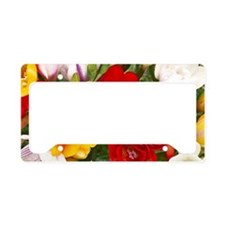Beautiful Flowers License Plate Holder