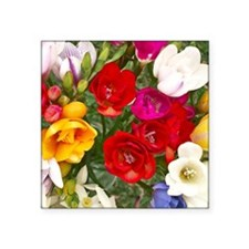 "Beautiful Flowers Square Sticker 3"" x 3"""