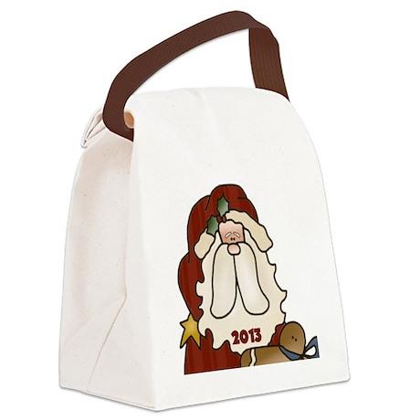 Santa 2013 Canvas Lunch Bag