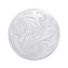 Celtic Interlace Dark Round Ornament