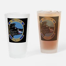 390th Fighter Squadron-Black Drinking Glass