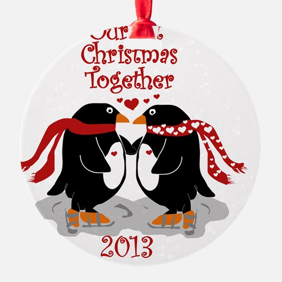 Penguins 1st Christmas Together Ornament