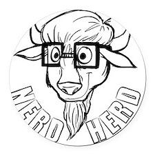 Nerd Herd Round Car Magnet