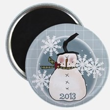 Stovepipe Hat Snowman 2013 Magnet