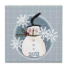 Stovepipe Hat Snowman 2013 Tile Coaster