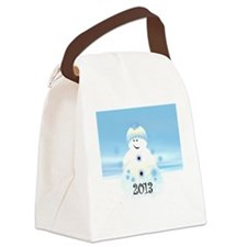 Snowman 2013 Canvas Lunch Bag