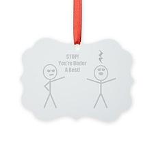 STOP! You're under a rest! Ornament