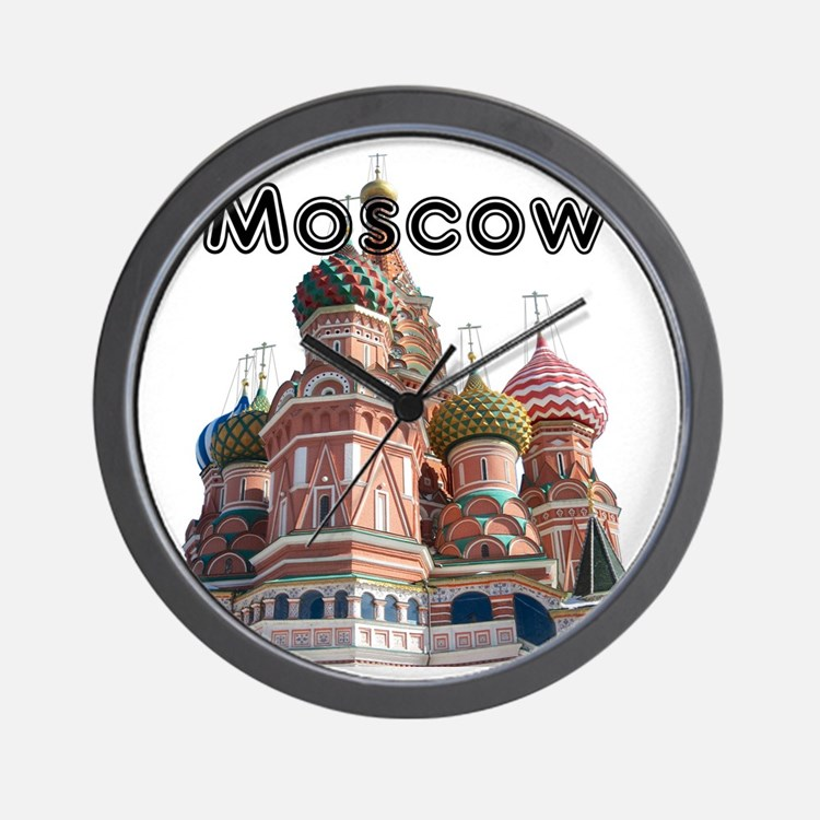 Moscow_12X12_v4_Black Wall Clock