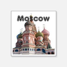 "Moscow_12X12_v4_Black Square Sticker 3"" x 3"""