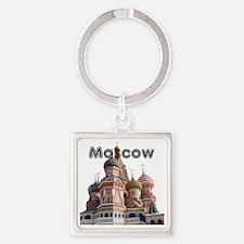 Moscow_12X12_v4_Black Square Keychain