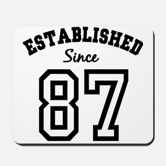 Established Since 1987 Mousepad