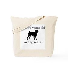 80 birthday dog years pug Tote Bag