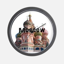 Moscow_10x10_v6_Black Wall Clock