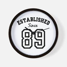 Established Since 1989 Wall Clock
