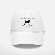 85 birthday dog years pug 2 Baseball Baseball Baseball Cap