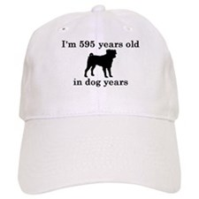 85 birthday dog years pug 2 Baseball Baseball Cap