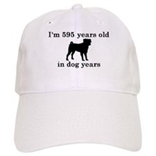 85 birthday dog years pug 2 Baseball Hat