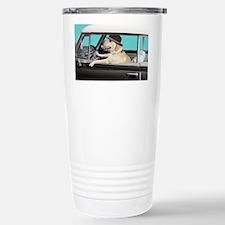 Yellow Labrador Driving Travel Mug