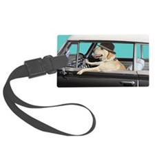 Yellow Labrador Driving Classic  Luggage Tag