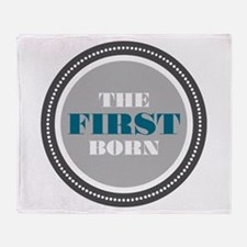 First Born Throw Blanket