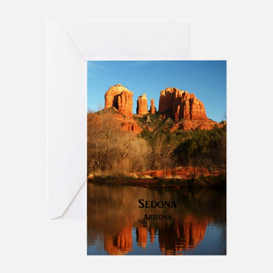 Sedona_34x44_TwinDuvet_CathedralRock Greeting Card