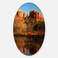Sedona_34x44_TwinDuvet_CathedralRoc Sticker (Oval)