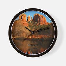 Sedona_34x44_TwinDuvet_CathedralRock Wall Clock