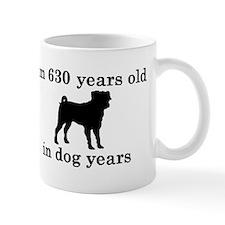 90 birthday dog years pug 2 Mugs
