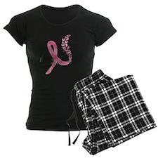 Pink Ribbon Butterflies Pajamas