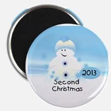 Snowman 2nd Christmas 2013 Magnet