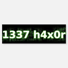 1337 h4x0r Bumper Bumper Bumper Sticker