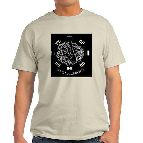 Ba Gua Palm White on Black Light T-Shirt