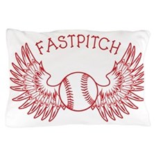 redwhite Winged Ball Fastpitch Pillow Case