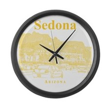 Sedona_12X12_MainStreet_Yellow Large Wall Clock