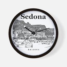 Sedona_10x10_v1_MainStreet_Black Wall Clock