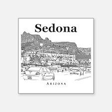 "Sedona_10x10_v1_MainStreet_ Square Sticker 3"" x 3"""