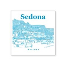 "Sedona_10x10_v1_MainStreet_ Square Sticker 3"" x 3"""