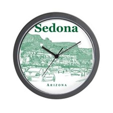 Sedona_10x10_v1_MainStreet_Green Wall Clock