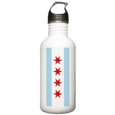 Chicago Flag Water Bottle